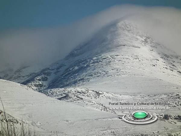 Cumbre nevada de la provincia de Buenos Aires