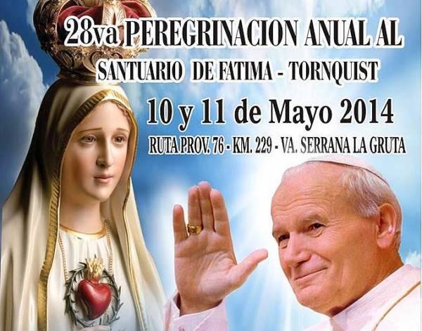 28º Peregrinación a la Vírgen de Fátima